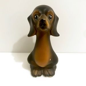 Vintage 1950's dachshund wiener dog figurine decor